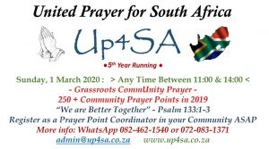 United Prayer for South Africa 2020